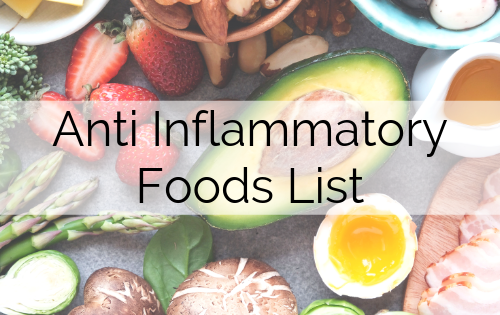 Anti Inflammatory Foods List